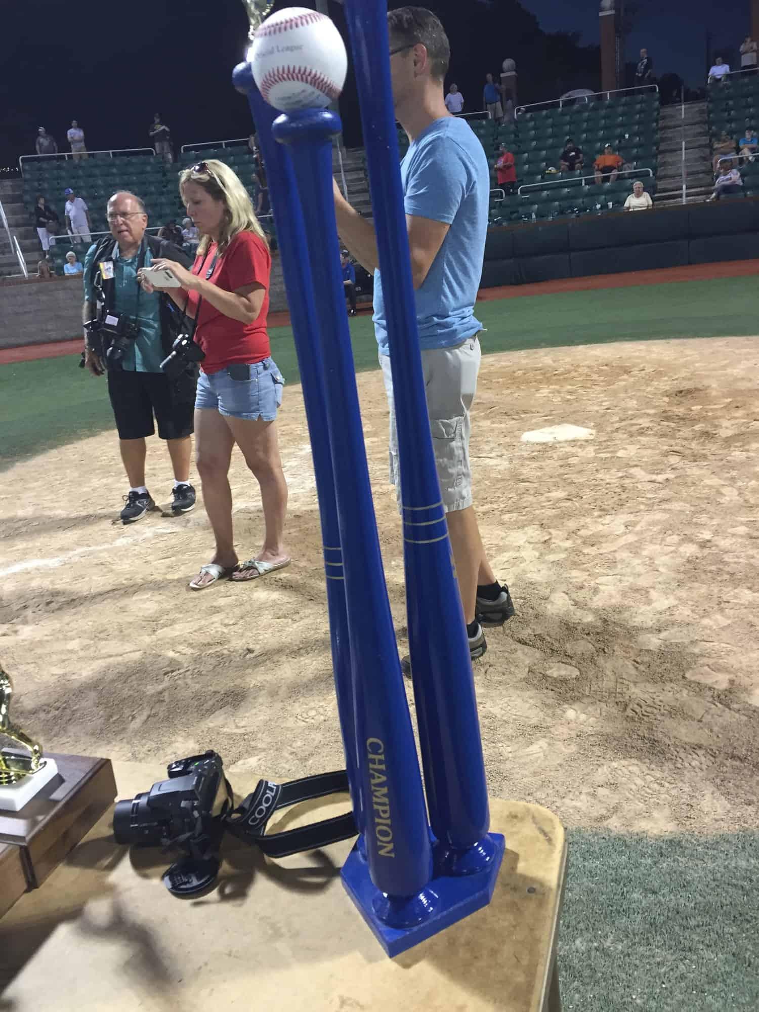 Championship blue bat