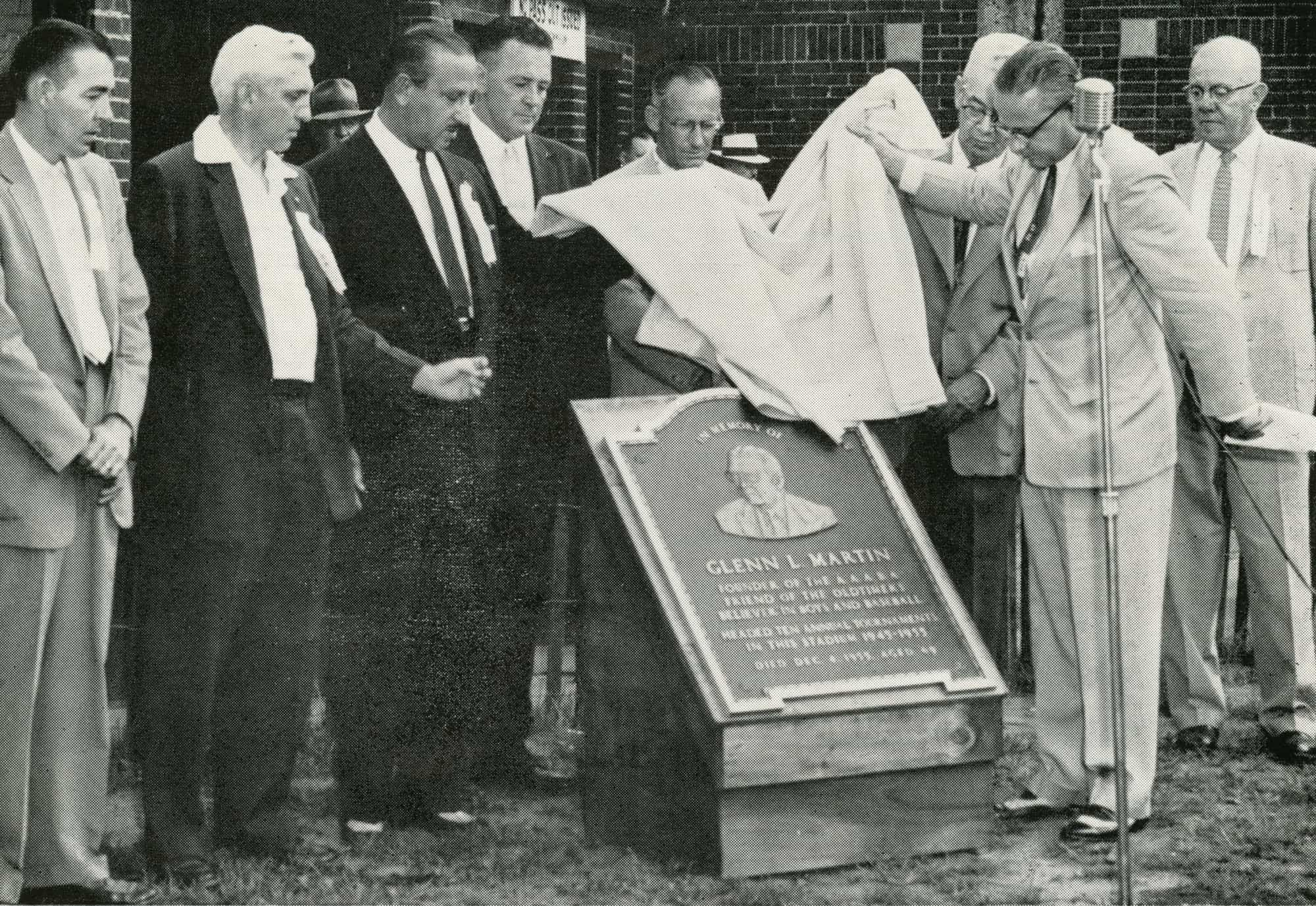Glenn L. Martin Plaque unveiled 1956 at Point