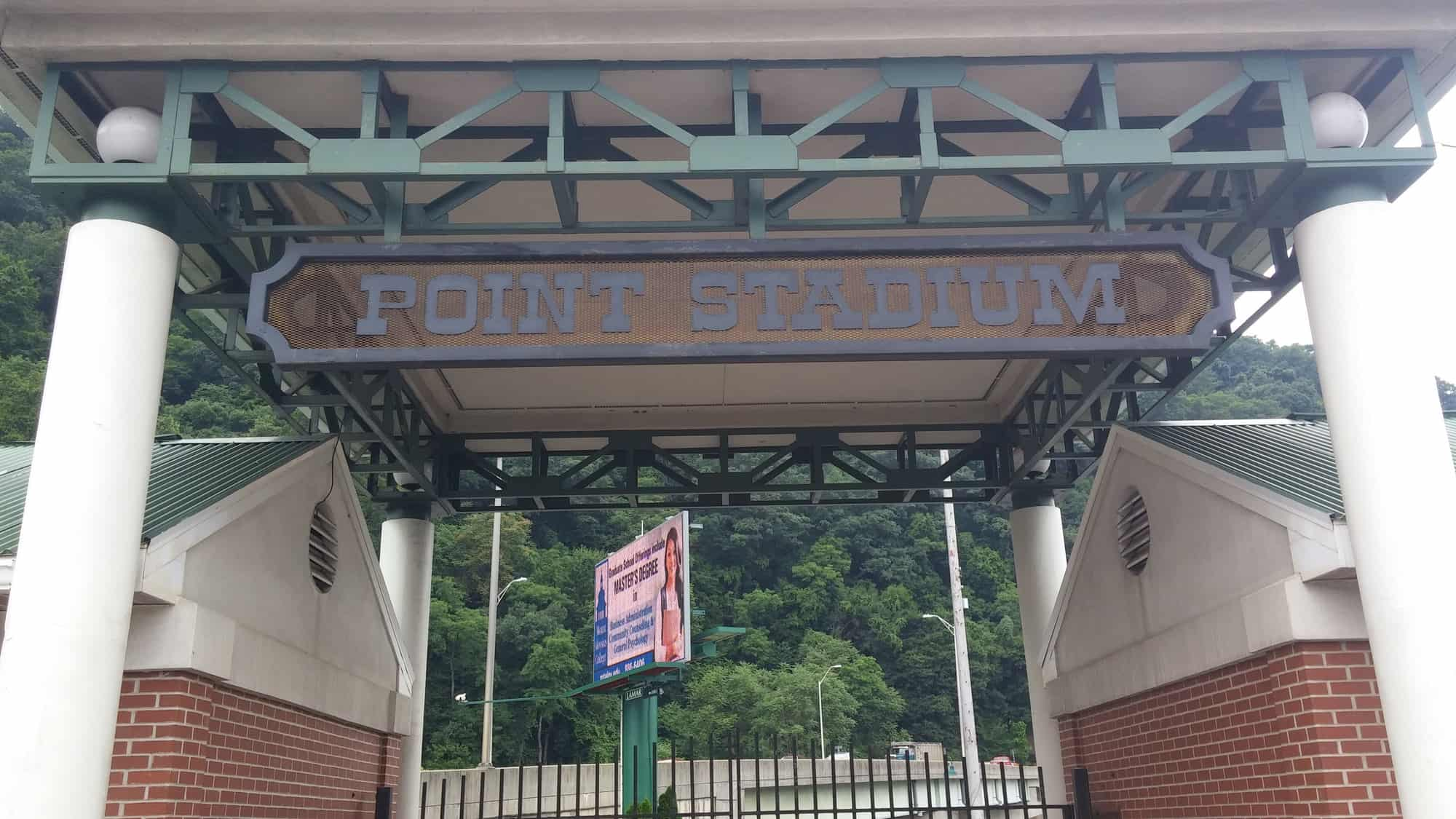 Point Stadium entrance