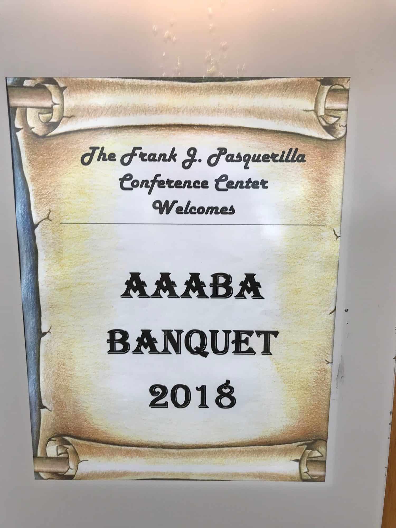 Welcome AAABA sign