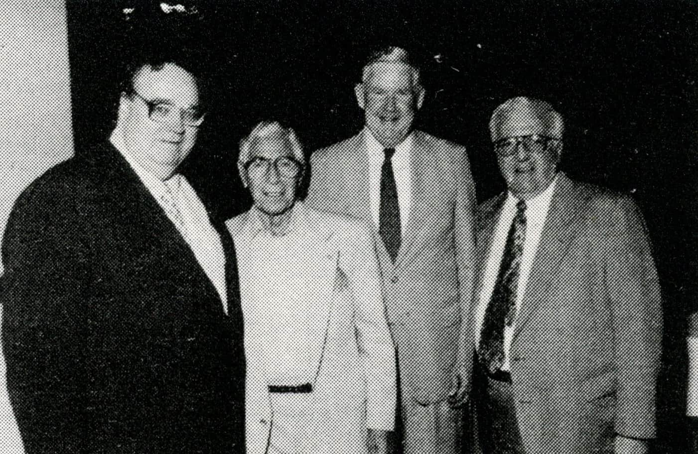 1992 AAABA Pres Roger Tremaine-Phil Rizzuto-Congressman Murtha-Oldtimers Pres George Arcurio Jr
