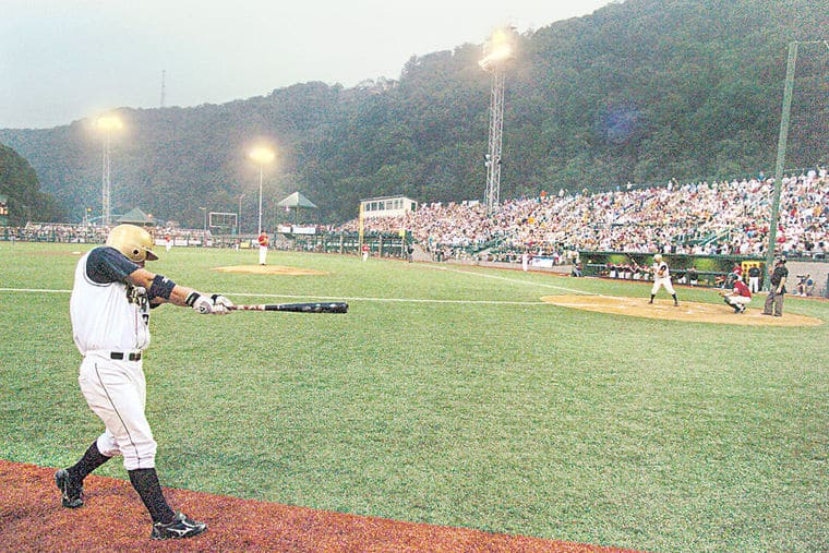Delweld Johnstown on opening night swing batter
