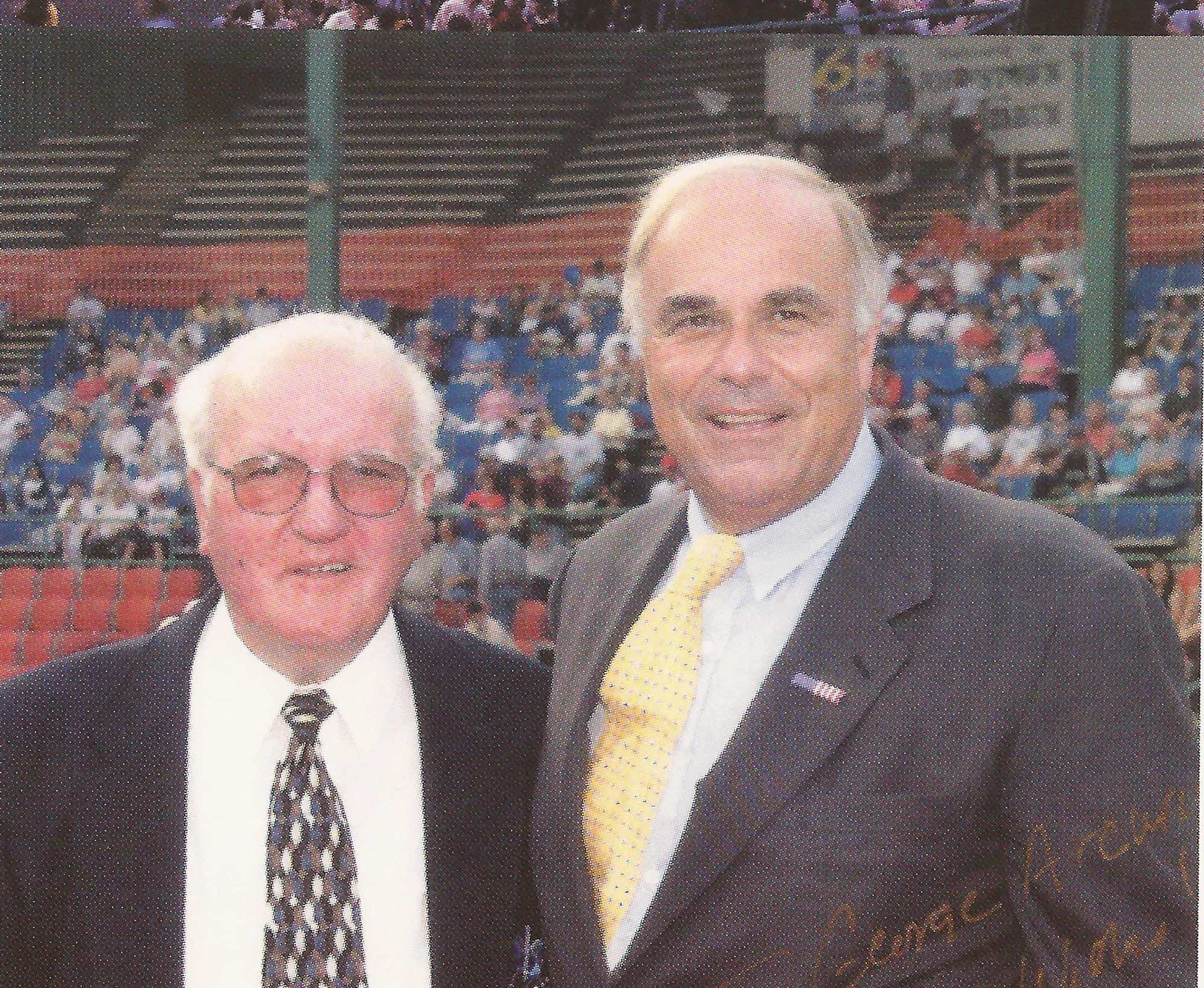 George Arcurio Jr and PA Gov Ed Rendell at 2003 AAABA Tournamen