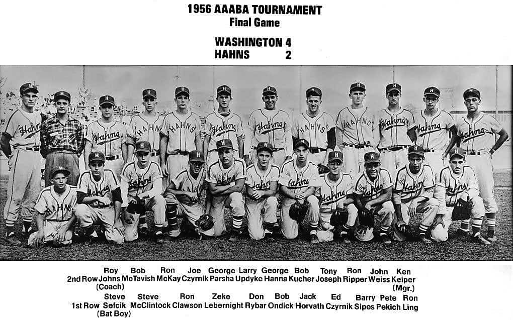 Hahn Packing 1956 AAABA Tournament runner-up