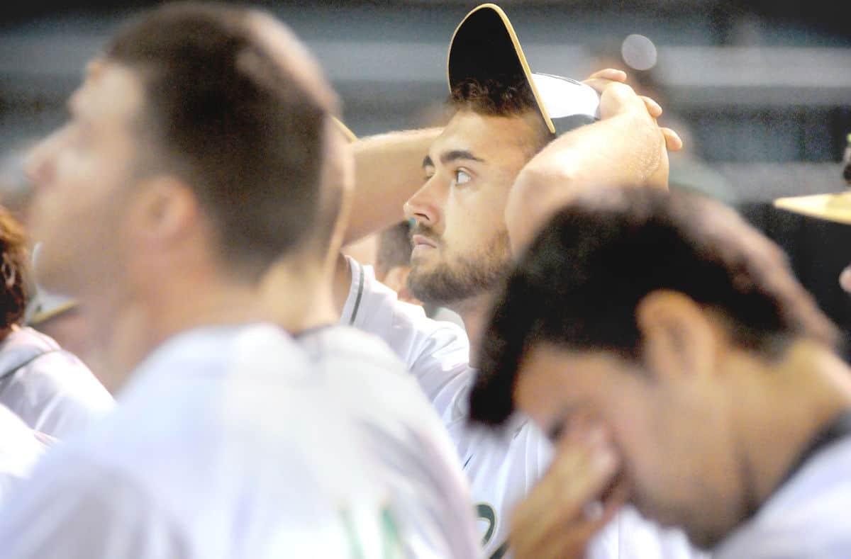 Paul Carpenter P Zach Salmon and teammates react 2017 title game