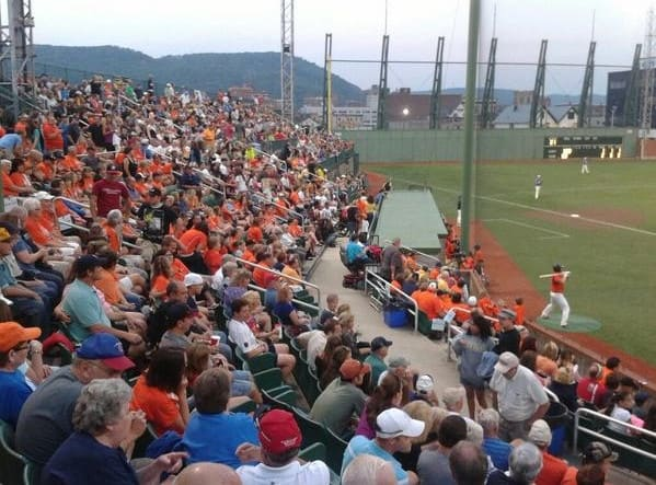 Point Stadium AAABA Tournament 2014 opener crowd