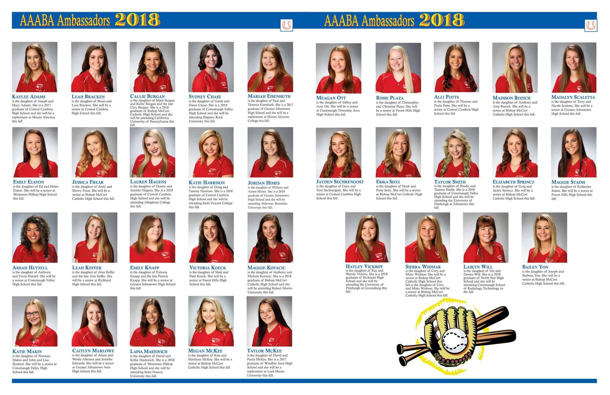 AAABA Ambassadors 2018