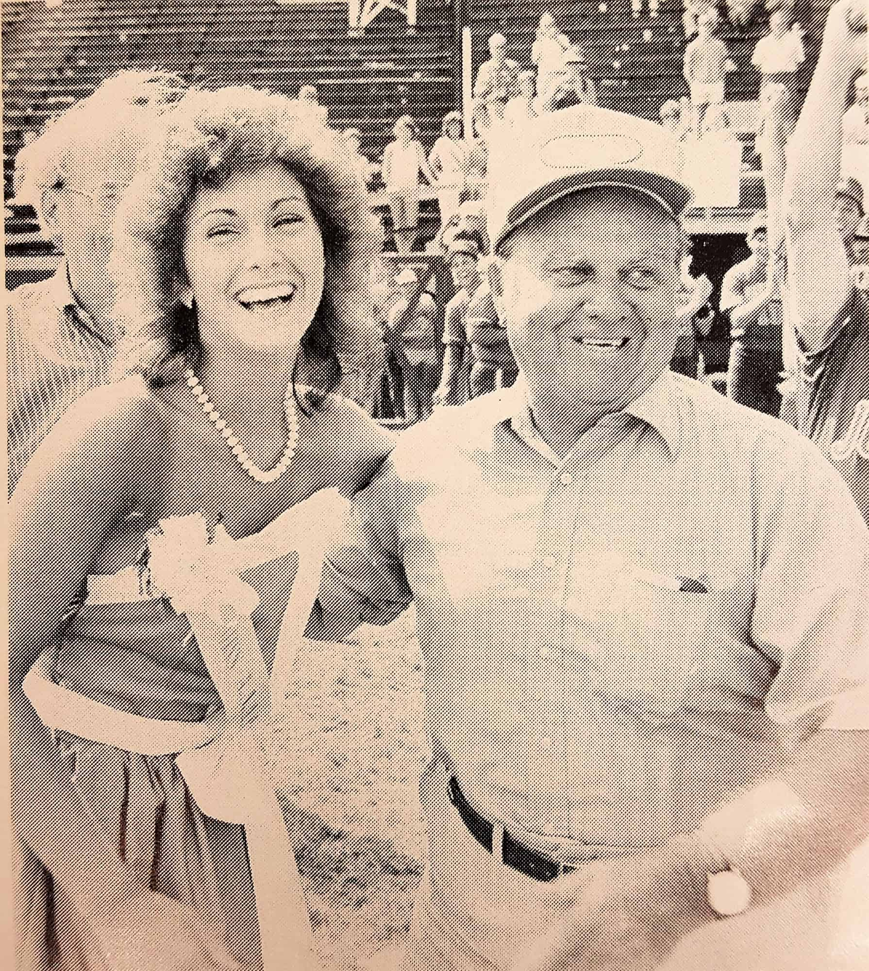 Walter Youse with AAABA Ambassador Jacquie Kasecky in 1985