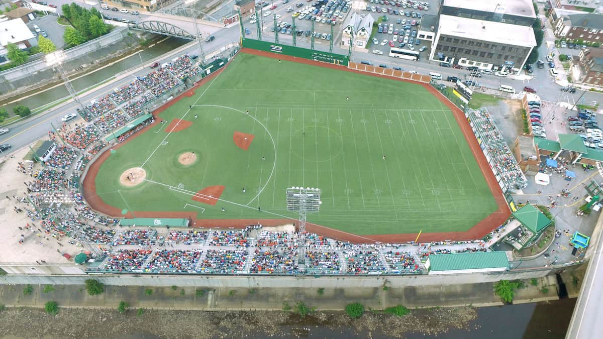 Point Stadium drone shot opening night 2016