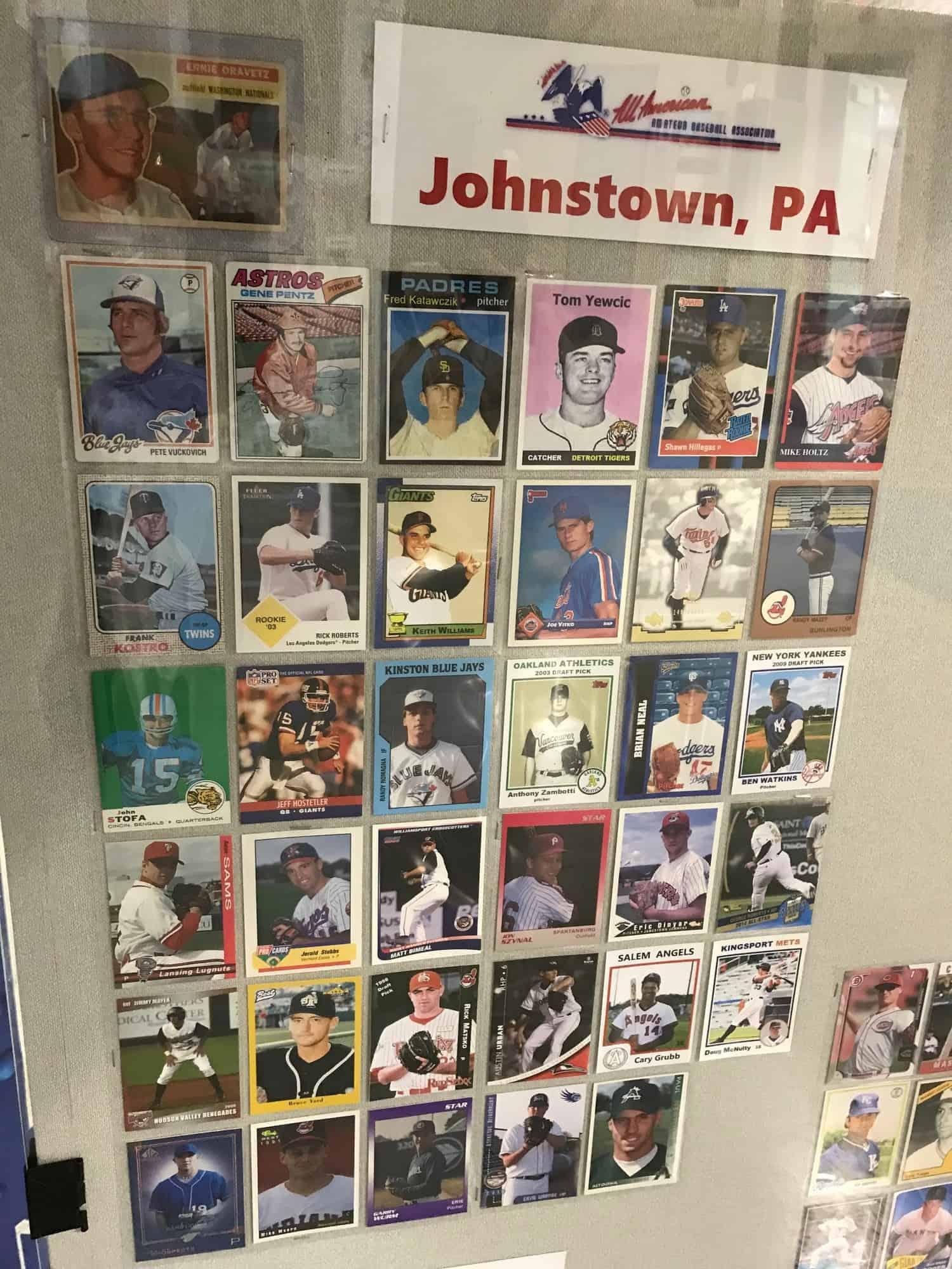 Rex Morgard Card Display Johnstown PA